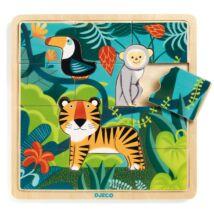 Képkirakó, puzzle - Dzsungel puzzle - Puzzlo Jungle- DJECO