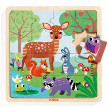 Képkirakó, puzzle - Erdő puzzle - Puzzlo Forest- DJECO