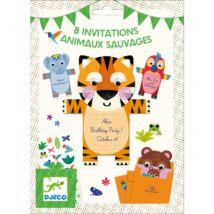 Parti játék -Meghívókártyák - Wild animals invitation cards- DJECO