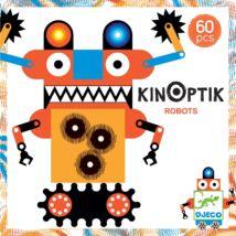 Optikai puzzle - Robotok - Kinoptik Robots - 60 db-os- DJECO