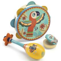 Játékhangszer készlet - Tambourine, maracas, castanet- DJECO