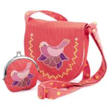 Embroidered bird bag and purse- DJECO