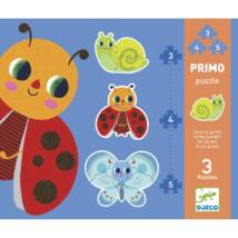 Primo puzzle - Kertben, 3, 4, 5 db-os  - In the garden - DJECO