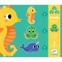 Primo puzzle Tengeri állatok - In the sea Djeco