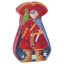 Formadobozos puzzle - Kalózok kincse - The pirate and his treasure- DJECO