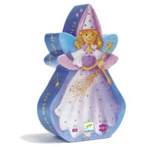 Formadobozos puzzle - Tündér és az egyszarvú - The fairy and the unicorn- DJECO