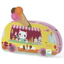 Mini puzzle - Fagyis kocsi - Ice cream truck- DJECO