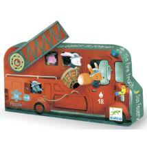Mini puzzle - A tűzoltóautó - The fire truck - DJECO