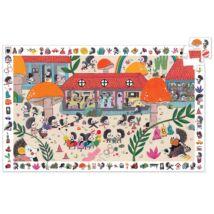 Megfigyeltető puzzle - Süni suli - The hedgehog school Djeco