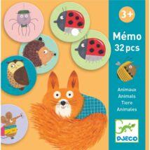 Dominó memóriajáték - Memo Animals Djeco