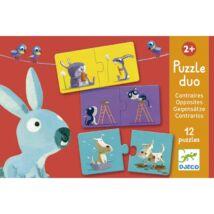 Párosító puzzle - Ellentétek - Opposites- DJECO