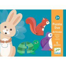 Párositó puzzle Erdei állatok - Articulo Animals Djeco