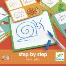 Rajzolás lépésről lépésre - Állatok - Step by step Animals and Co- DJECO