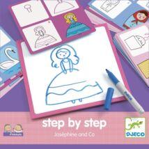 Rajzolás lépésről lépésre - Hercegnő - Step by step Joséphine and Co- DJECO