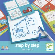 Rajzolás lépésről lépésre - Járművek - Step by step Arthur and Co- DJECO