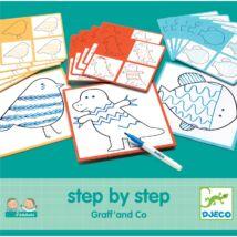 Rajzolás lépésről lépésre - Step By Step Graff' and Co  Djeco