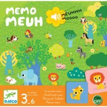 Társasjáték - Hangos - képes bujócska - Memo Meuh- DJECO