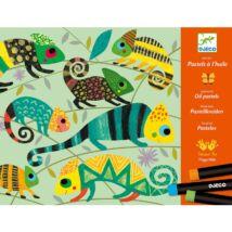Művészeti műhely, olajpasztell - Színes dzsungel - Coloured jungle- DJECO