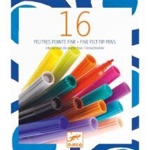 16 vékony hegyű filctoll - 16 thin markers- DJECO