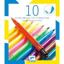 Ecsetfilc készlet - 10 ragyogó szín - Pop colors- DJECO