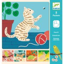 Rajzsablonok - Aranyos állatok - Cute companions Djeco Design by