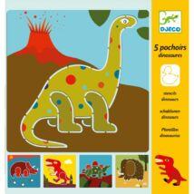Rajzsablonok - Dínók - Dinosaurs- DJECO