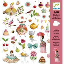 Matricák - Hercegnők tea partyja - Princess Tea Party- DJECO
