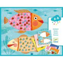 Mozaikkép készítés - Gyöngymozaik - Bead mosaics - Djeco
