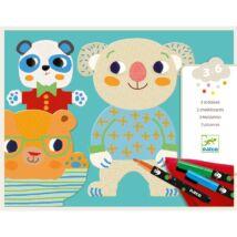 Színező készlet - Csinoskák - Cuties Djeco Design by