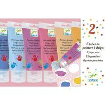 Ujjfesték - 6 szín tubusban - 6 finger paint's tubes - Sweet- DJECO