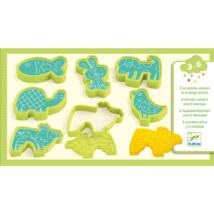 Gyurmaformázó készlet - 6 press moulds and 6 stamps pet animals- DJECO