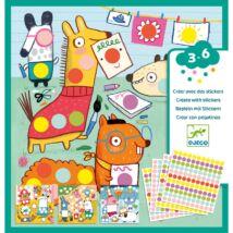 Kreatív matricázó - Színes pöttyökkel - With coloured dots