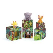 Toronyépítő - Maxi, szavannai állatok - Maxi Topanijungle- DJECO