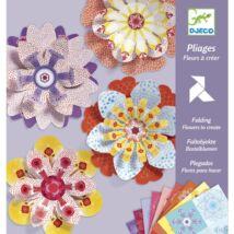 Hajtogató - Papírvirág készítés - Flowers to create- DJECO