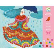 Művészeti műhely - Party ruhák mozaik készlet - Party dresses Djeco Design by