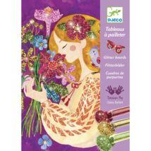 Csillámkép készítő - A virágok illata - The scent of flowers- DJECO