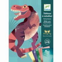 Fémfóliás színezés - Dínók korszaka - Jurassic - Djeco