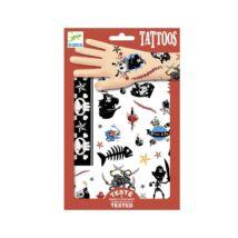 Tetováló matricák - Kalózok - Pirates- DJECO