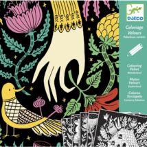 Bársonyszínező - Meseország - Velvet colouring - Wonderland- DJECO