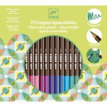 Színes ceruza készlet - 24 szín, akvarell - 24 watercolour pencils- DJECO