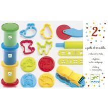 Gyurmaformázó készlet - Introduction to dough 4 tubs and 21 tools- DJECO