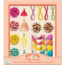 Gyöngyfűzés - Fagyöngyök és kockák - Beads and cubes Djeco Design by