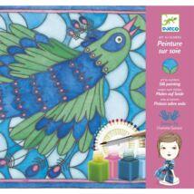 Selyemsál festő készlet - Páva - Peacock- DJECO