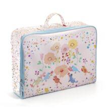 Kis textil bőrönd - Színes madárkák - Birds suitcase