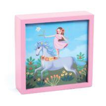 Jelzőfényes falikép - Elvarázsolt egyszarvú - Enchanted unicorn- DJECO