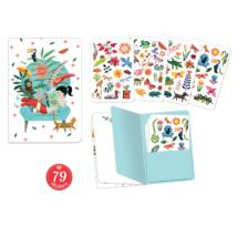 Jegyzetfüzet 79 db matricával - Sarah stickers notebook Djeco Lovely Paper