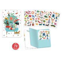 Jegyzetfüzet 79 db matricával - Sarah stickers notebook Djeco Lovely Paper