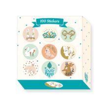 Kerek matricák - 100 Lucille stickers- DJECO