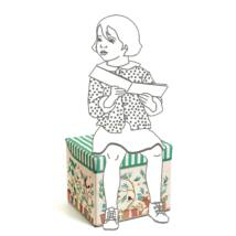 Játéktároló ülőke - Házi - House toy box - Djeco