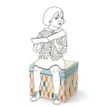 Játéktároló ülőke - Keleti - Seat box Orient - Djeco